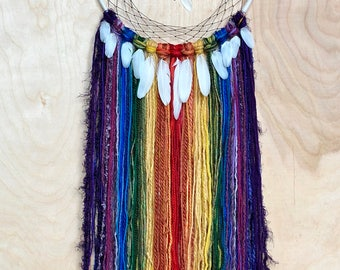"10"" white/ rainbow Dreamcatcher"
