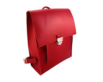 Leather Backpack Women - Leather Backpack - Backpack Women - Rucksack - Red Leather Bag - Leather Rucksack - Backpack - Laptop Backpack
