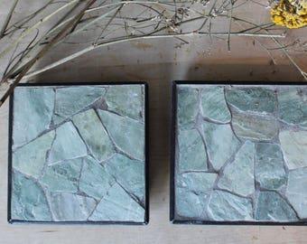 2 mosaic coasters