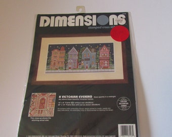 Dimensions A Victorian Evening Stamped Cross Stitch Kit - NEW