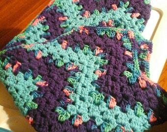 Crochet Ripple carseat blanket