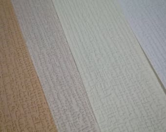 120 sheets 6x6 Textured Paper / Cardstock 12 colors (Chiffon)