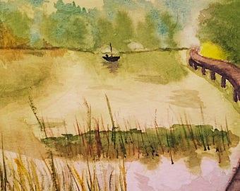 Summer Lake Boating