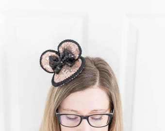 Minnie Mouse Rose Gold Fascinator