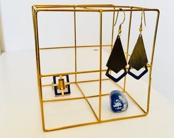 Geometric jewelry organizer -small