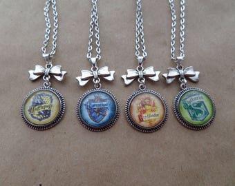 Hogwarts House Crest Necklace - 4 Options