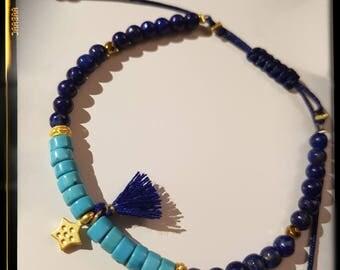 Bracelet Turquoise and Lapis Lazuli