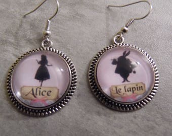 "Earrings ""Alice and rabbit"""