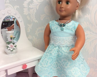 "Lace Dress for 18"" Doll such as American Girl"