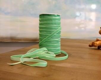 3/8 inch Light Green VELVET Ribbon by the Yard / 10 MM Velvet Ribbon / Velvet / Light Green / ER-V61