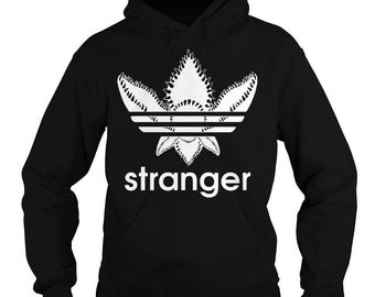 Stranger Things Hoodie : Demogorgon Upside Down Black Hooded Sweatshirt
