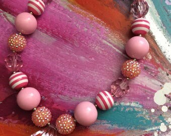 DISCO & BUMBLE BEE Beads - Chunky Bubble Gum Necklace