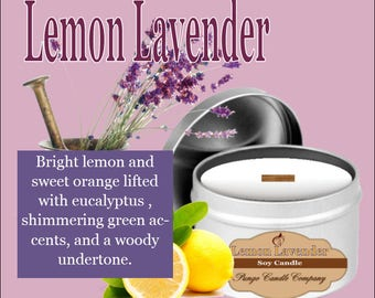 Lemon Lavender Soy Candle Tin (8 oz.)