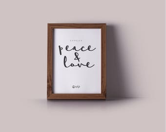 Spread Peace and Love Printable