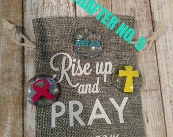 Prayer/worry stones with burlap sack