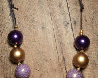 Purple Sunset Bubblegum Necklace