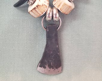 Forged ax head pendant