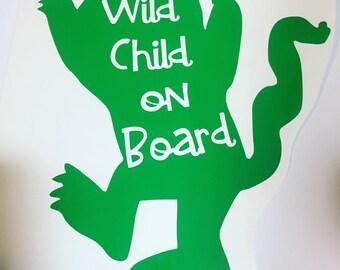 Wild child on board vinyl decal