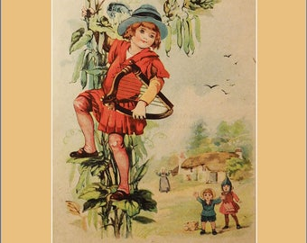 Jack and the Beanstalk children's print