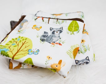 Forest Friends Baby Lovey, Security Blanket, Contemporary Baby Lovey Blanket, Cute Animal Baby Lovey, Fox Blanket, Owl Baby Blanket, Deer