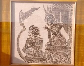 Thai Temple/Charcoal Rubbings Story of Ramekins