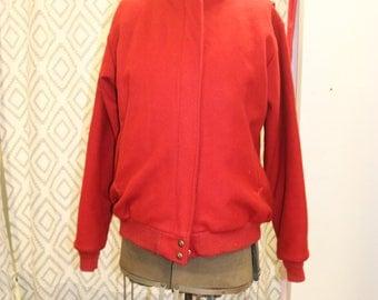 L.L. Bean Red Wool Jacket
