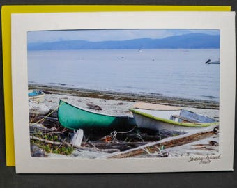 Savary Island Dinghy blank photo card