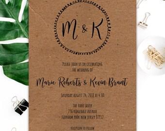 Kraft Wedding Invitations + RSVP