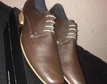 Mens Dress Shoe Dark Brown, Hand made