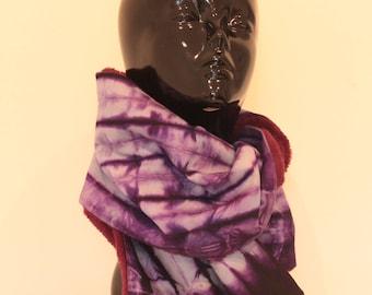 Purple tinted scarf