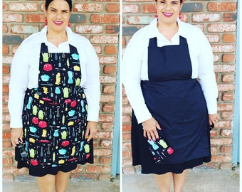 Apron Reversible  (Appliance Design with Black)