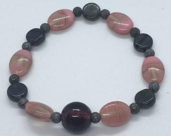 Handmade Czech glass bead bracelet
