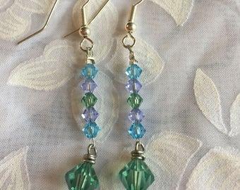 Spring Colors Crystal Earrings