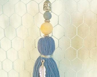Blue-grey tassel