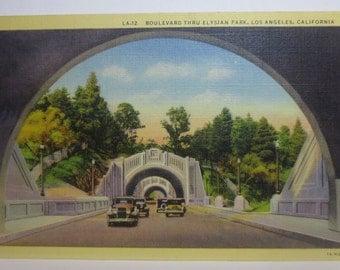 Vintage Postcerd of Los Angeles 1950