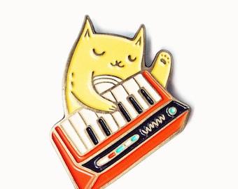 cat pin - moog enamel pin, band pins - enamel pins cat enamel pin, band button pins and patches, pins and buttons, hat pins, backpack pins