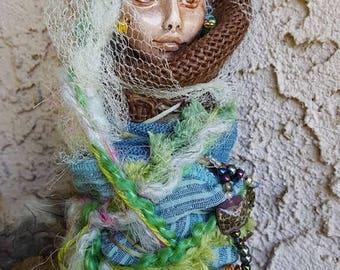 Tatiana Fairy Queen, Spirit Art doll, ooak Art Doll, Kitchen Decor, Shabby shic, kitchen goddess, bridal shower gift, wedding gift