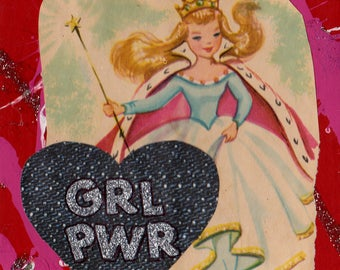 GRL PWR  Collage Art