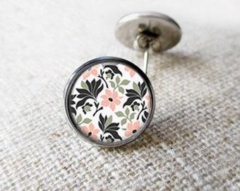 Pink Flower Earrings, Pink Stud Earrings, Dangle Earrings, Drop Earrings, Handmade Earrings, Glass Earrings, Summer Earrings, Gifts For Her