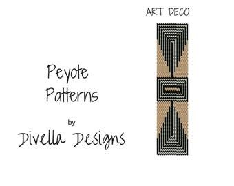 Peyote Bracelet Pattern, Art Deco