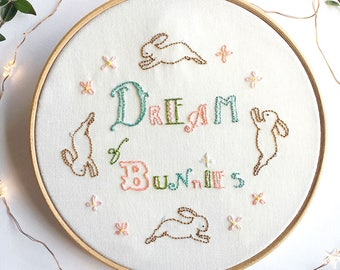 Dream of Bunnies - Hand Embroidery Pattern