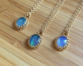 Australian Opal Layering Necklace