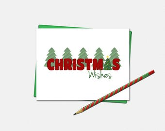 Christmas Wishes Cards - Set of 10 - Christmas Cards - Christmas Card - Xmas Cards