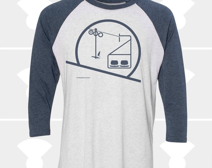Featured listing image: FLASH SALE ! Sunrise & Sunset Chairlift - Unisex Raglan Long Sleeve Shirt