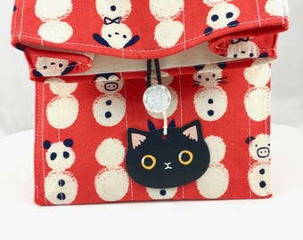 Meowy Catmas Gift Bag By For Mew, Snowman Animals, Cat Toy, Cat Tattoo, Cat Pins, Cat Lady Cat Person Gift, Christmas Gift