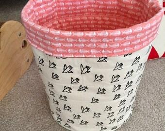 Birdies Cat Toy Basket, Pet Toy Storage Bin, Cat Lady Cat Lover Gift