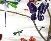Vous choisissez n'importe quelle couleur et taille - vitrail 3D papillon pirouette - capteur maison jardin suspendu ornement maison Decor ailes (faites à la commande)