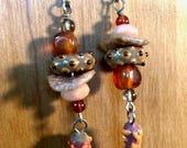 ABO Ceramic and Semi-Precious Gemstone Earrings