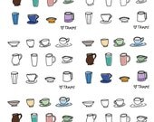 Coffee Cup Sticker Sheet