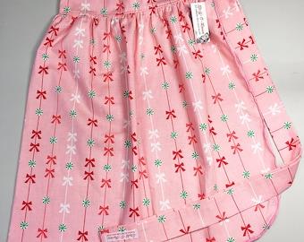 Half Apron - Vintage Pin Up Skirt Style - Christmas Holiday Sweets